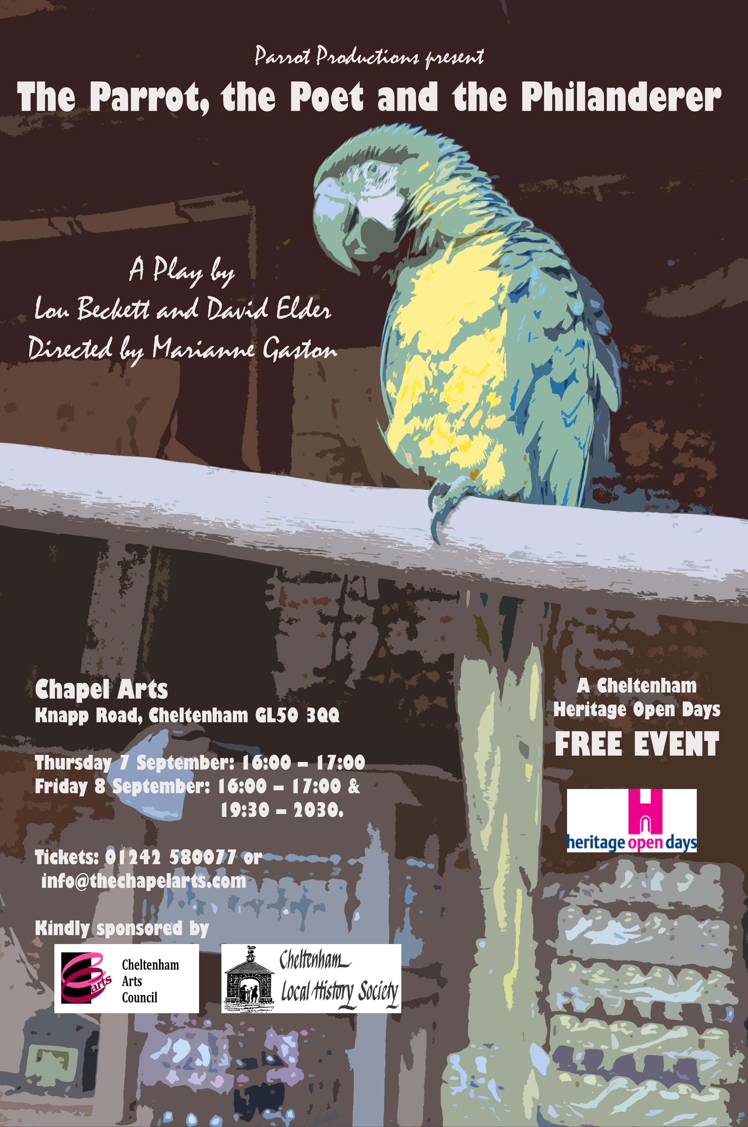 Parrot, Poet and Philanderer poster - final