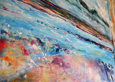 Close up detail of Painting Blown Away