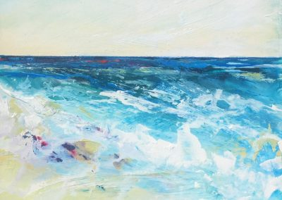 Plein air seascape Melanie Cormack-Hicks 52x52cm framed
