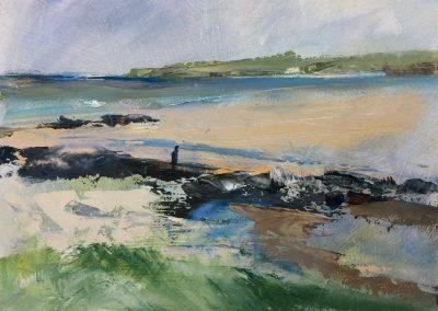 Beachcombing at Balnakeil Bay. Kim Jarvis