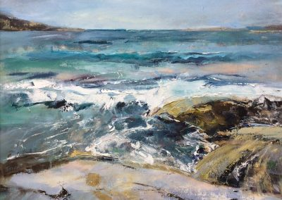 Facing the ocean at Clashnessie. Kim Jarvis