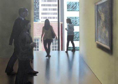 Exhibtion, Acrylic on Canvas, Ric James