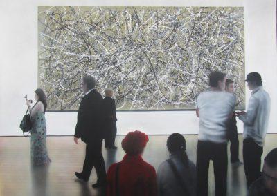Pollock, Acrylic on canvas, 76 x 102 cm, Ric James