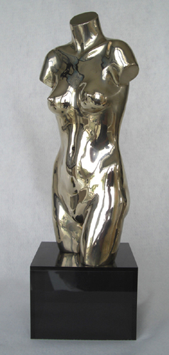 Female torso, signed bronze