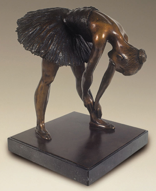 Lucy Stretching, Signed Bronze