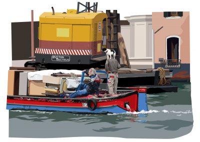 dog + barge LR